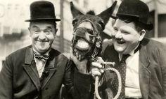 Stan Laurel + Oliver Hardy. 1936