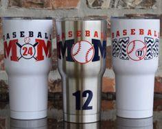 Baseball Mom Tumbler Cup RTIC 30 ounce & Baseball by VinylGifts Baseball Cup, Baseball Bases, Baseball Crafts, Baseball Mom Shirts, Baseball Equipment, Baseball Season, Baseball Jerseys, Baseball League, Baseball Stuff