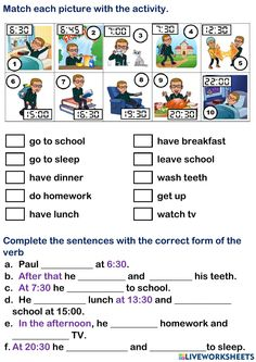 English Homework, Do Homework, Online Exercise, Interactive Activities, School Subjects, Your Teacher, Learn English, Book 1, English Language