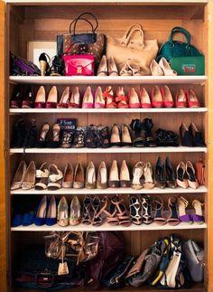 shoe closet// Miranda Kerr's NY apartment via @The Coveteur