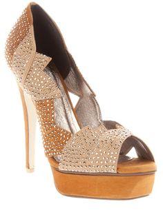 #JeffreyCampbell open toe platform stilettos