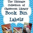 This is a collection of 150 classroom library book bin titles and labels for setting up a classroom library in a K-2 classroom.  Each book bin la...