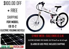 "Folding Electric Mountain Bike with LCD Display | 26"" Tires with Pedal Assist"