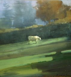 Charolais Bull  Oil Painting  9x8in  2004