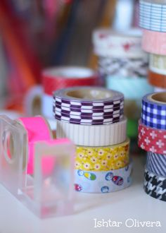 Washi tape instead of regular Scotch tape? Washi Tapes, Masking Tape, Wrapping Ideas, Gift Wrapping, Scotch Tape, Fabric Tape, Happy Mail, Snail Mail, Mail Art