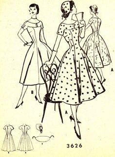 Retro Dress with Full Skirt