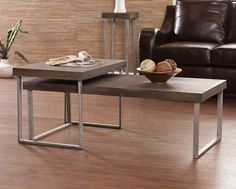 Upton Home Lumberton Nesting Cocktail/ Coffee Table 2 pc set - Overstock™ Shopping - Great Deals on Upton Home Coffee, Sofa & End Tables Narrow Coffee Table, Coffee Table With Stools, Coffee Tables, Sofa End Tables, Table And Chairs, Table Legs, Dining Tables, Coffee Table Dimensions, Traditional Furniture