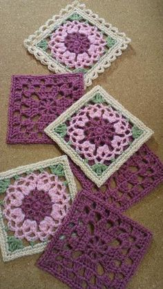 Transcendent Crochet a Solid Granny Square Ideas. Inconceivable Crochet a Solid Granny Square Ideas. Motifs Granny Square, Granny Square Crochet Pattern, Crochet Blocks, Crochet Flower Patterns, Crochet Squares, Crochet Blanket Patterns, Crochet Motif, Crochet Designs, Crochet Stitches