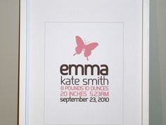 Butterfly Nursery Art, Personalized 8x10 I love these!