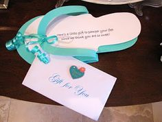 Spa gift for pedicure:  Here's a little gift to pamper your feet, since we think you are so sweet!