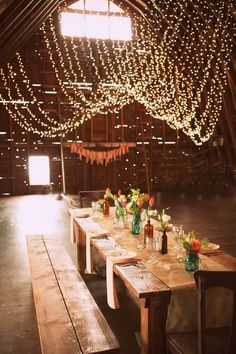 This is a great idea for a country wedding dress rehearsal dinner :) so want to do this