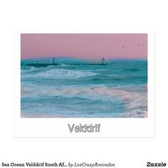 Sea Ocean Velddrif South Africa Nature Storm Postcard