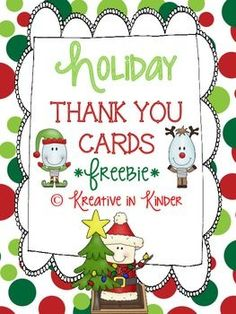 Holiday Thank You Cards  FREEBIE!