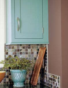 Love this backsplash!  Southern Living Idea House eclectic kitchen