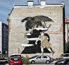 by Luca Zamoc in Swidnica, Poland, 2015 (LP) Urban Art, New Work, Poland, Graffiti, Street Art, Moose Art, Creations, Snoopy, Zero