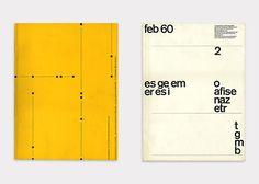 Graphic Design Magazines, cover by Emil Ruder and Yves José Zimmerman