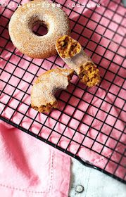 Nibbling fresh-baked pumpkin donuts- all in a day's work. Gluten and dairy free.