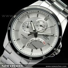 Casio Edifice Mens Silver Dial Sports Watch EF-341D-7AV EF341D - Buy Watches Online | CASIO NZ Watches