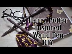 Harry Potter Inspired Wand Pen DIY - YouTube