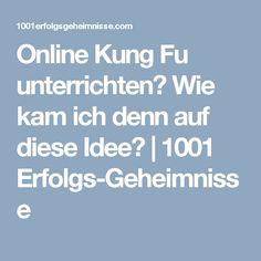 Online Kung Fu unterrichten? Wie kam ich denn auf diese Idee? | 1001  Erfolgs-Geheimnisse