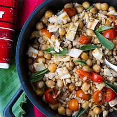 Chickpea and Tomato Salad with Grilled Chicken