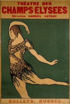 С. Дягилев - Русские балетные сезоны - афиша #art