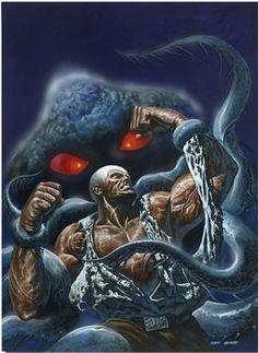 Doc Savage, art by Ken Barr