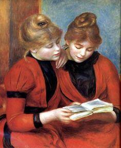 Two Sisters, 1889, by Pierre-Auguste Renoir