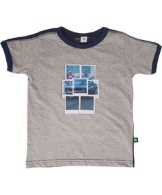 Molo grijze t-shirt met polaroid print. molo.nl.emilea.be
