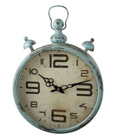 Take a look at this Blue Distressed Wall Clock today!