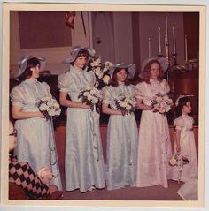 Vintage 70s PHOTO Weddin