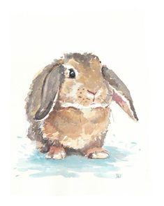 bunny watercolor tattoo | Little Rabbit Watercolor