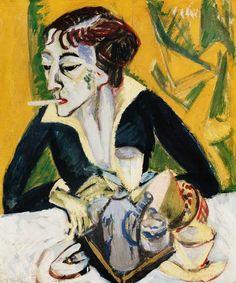 Titre de l'image : Ernst Ludwig Kirchner - Erna avec une cigarette