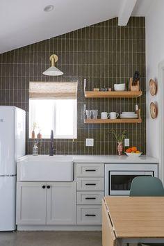 Garage Renovation, Garage Remodel, Cedar And Moss, Italian Farmhouse, Fireclay Tile, Shower Fixtures, Garage House, Apartment Kitchen, Maine House