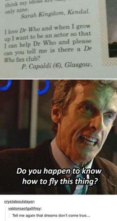 Peter Capaldi, the fanboy