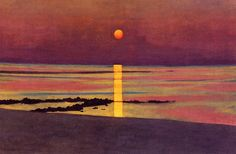Artemis Dreaming:Sunset, Private CollectionFelix Vallotton