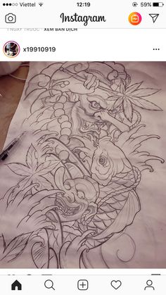 Tengu Tattoo, Carp Tattoo, Koi Fish Tattoo, Frog Tattoos, Zodiac Tattoos, Love Tattoos, Japanese Dragon Tattoos, Japanese Tattoo Art, Tattoo Sketches