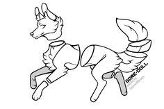 Animal Sketches, Animal Drawings, Art Sketches, Anime Wolf Drawing, Furry Drawing, Human Base Drawing, Cartoon Drawings, Cute Drawings, Wolf Base