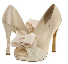 Big Bow shoes by RSVP rsvp Cailyn $99.00 #Zappos  available in ivory, silver, and black!