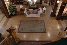 Charmed Halliwell Manor view from the staircase