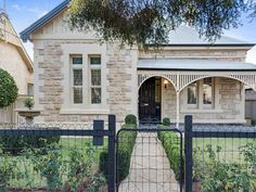 4 bedroom house for sale at 90 Young Street, Parkside SA Cottage Exterior, Exterior House Colors, Victorian Cottage, Victorian Homes, Style At Home, Cottage Renovation, House Front, Stone Front House, Front Deck