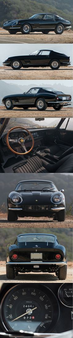 All-Black 1967 Ferrari 275 GTB/4..Re-pin Brought to you by agents at #HouseofInsurance in #EugeneOregon for #LowCostInsurance
