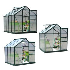 Greenhouses and Cold Frames 139939: 6X4 6 8X7ft Greenhouse Aluminum Frame Walk-In Outdoor Plant Garden Polycarbonate -> BUY IT NOW ONLY: $279.99 on eBay!