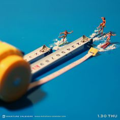 Water skiing - miniatures and measuring tape