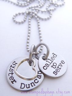 LDS Sister Missionary Personalized Jewelry by StampedbyShaye, $22.00