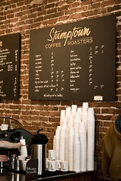 We can do a thin veneer brick wall like this. Also like the menu board