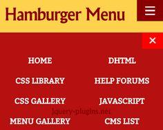 jQuery Hamburger Icon Menu #icon #menu #mobile #jQuery #hamburger #toggle #jQueryMenu #hamburgerMenu #ff