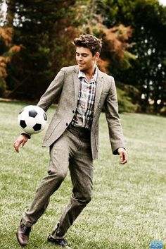 soccer in a suit <3