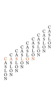 Caslon Typography Poster by Amber Crawshaw, via Behance