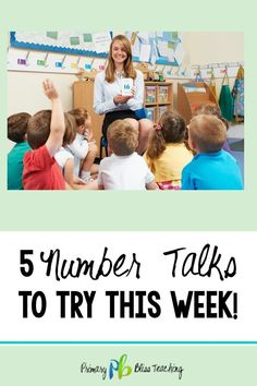 Have you dabbled in number talks with your students only to find that they quickly get disengaged? Try these 5 ideas during your next number talk. Number Talks Kindergarten, Kindergarten Fun, Teaching Math, Primary Teaching, Classroom Reading Area, Math Classroom, Math Strategies, Math Resources, Math Activities